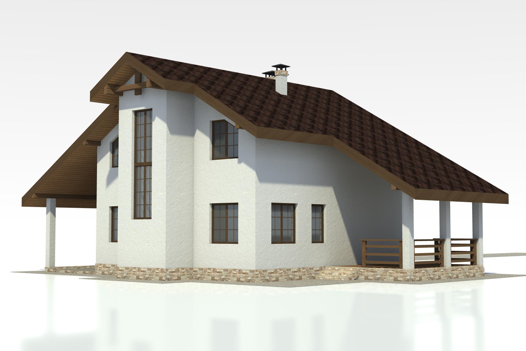 проект дома из арболита бесплатно