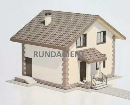 Проект дома из арболита 115 м2