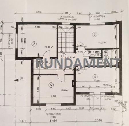 Готовый проект дома из арболитовых блоков 249,5 м2.
